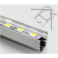 LED Light Strip with Aluminum Slot for Showcases, Display Cases, Counters