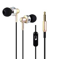 Stereo Earphones Super Bass 3.5mm In-Ear Earbuds Metal Headset with HD Mic
