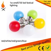 different color 1w led small bulb for indoor lighting festival Christmas day