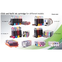 Transprant Refillable and Ciss Ink Cartridge for All Models like HP,Canon,Epson ,Brother,Lexmark