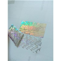 Design VOID tamper evident hologram sticker