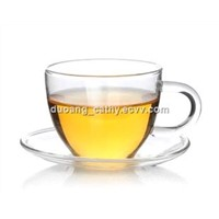 Glass Tea Cup with Saucer