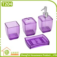 Latest Fashion Transparent Plastic Bathroom Sets