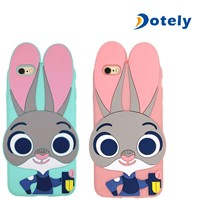 Lovely Rabbit Cover Coque Cartoon 3D Bumper Cases for iPhone/Samsung