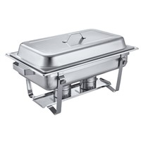 433 Banquet table with chafing dish heaters