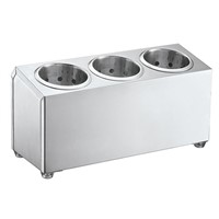 Stainless Steel 3 Hole Flatware Holder