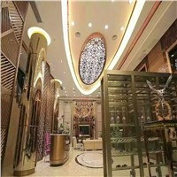 home deco stainless steel metal screen partition wall for hotels