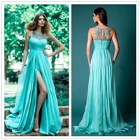 2016 High Quality Elegant Side Slit Lace Evening Dress Wholesale Fashion Newest Cheap Evening Dress
