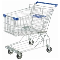 Asian Style 60L supermarket shopping trolley cart on wheels