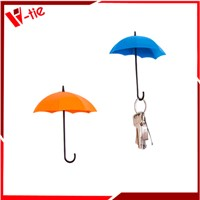 Creative colorful umbrella shape plastic wall hook without nail