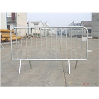 Galvanized 42micron Temporary Steel Metal Construction Road Safety Barricades Rental
