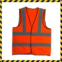 high visibility road construction safety reflective vest