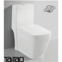 Bathroom Ware White One-Piece Saving Water Ceramic Toilet