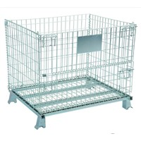 Custom Size Foldable Storage Cage/ Wire Container With Wheels