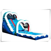 Inflatable sea world water slide for sale