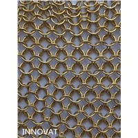 New designed modern metal ring mesh wall curtain from supplier