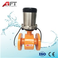 DN100 Battery Powered RS485 Electromagnetic Flowmeter