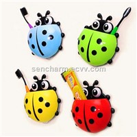 Promotional gift insect toothbrush holder bathroom set
