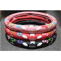 Hello kitty silicone car steering wheel covers