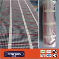CE VDE approved radiant floor heating cable mat