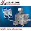 Multi lane shampoo filling and packing machine