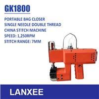 Lanxee GK1800 single thread chain stitch bag closer machine