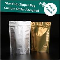 Customized Ziplock Aluminum Foil Stand up Plastic Food Bag/Sliver Food Grade Packaging Doypack