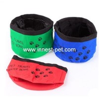 nylon traveling pet water bowl/ fodable dog bowl/ nylon dog bowl / dog feeder