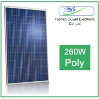 Factory 260W poly solar panel for solar pv module