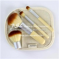 Top Sellers on Amazon Makeup Sets Kabuki Makeup Brush Kit Wooden Handle
