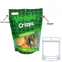 Clear Window Top Zipper Plastic Ziplock Stand up Pouch Bags