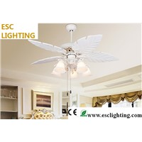 modern designed mediterranean style ceiling fan light white color