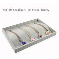 Velvet Liner Arc Surface Trays for Jewellery Stores