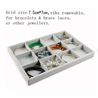 12 Grids Bracelet and Brace Lace Display Trays