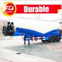 High quality 3 axles bulk cement transport trailer/bulk powder tanker trailer for sale
