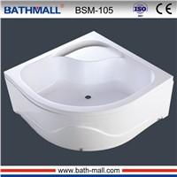 High deep acrylic shower tray for steam room