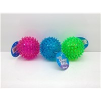 TPE Plastic 2.5 inch light up spiky bounce/message ball