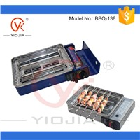 PORTABLE BUTANE GAS BBQ GRILL camping fishing caravan cooker