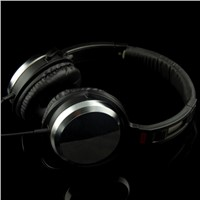 Stereo Wired Headphone, Metal Headband, Foldable Design, 3.5mm Plug,Compatible with Phone & Computer