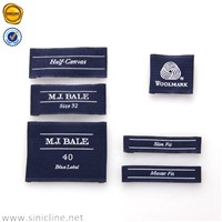 Customized garment clothes woven label tag/woven labels/clothing label