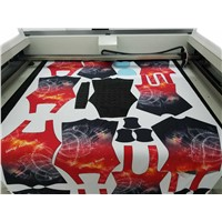 100W Vision Laser Cutting Machine w/Scanning Camera for Sportswear Contour Cutting/HQ1610V