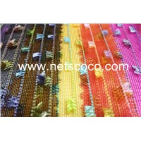 Netscoco Mist Flower Stripe  Nylon Mesh Polyester Mesh Bag Mesh