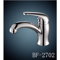 plastic chrome surface hot and cold  bathroom  faucet
