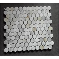 Hexagon White Marble Mosaic