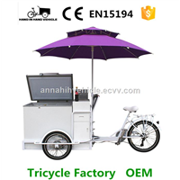 ice cream bike/ freezer bike/ cooler box tricycle/ mobile coffee bike