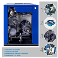 hot sale! 7.5kw 10HP air cooled type screw air compressor