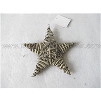 star shape willow wicker wall hanging decoration product