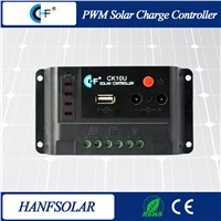 10A 12V/24V Auto Manual PV Solar Charge Controllers CK10U