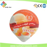 High Quality Die Cut Embossed Yogurt Aluminum Container lid foil