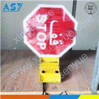 Oman school bus stop arm/sign with led light turning motor